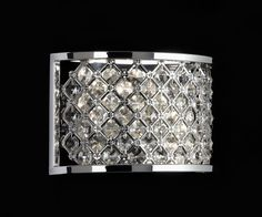 Endon Lighting Hudson 2 Light Crystal Wall Fitting - Lighting Type from Castlegate Lights UK Bathroom Wall Lights, Wall Sconce Lighting, Light Bathroom, Sconces, Crystal Wall, Clear Crystal, Crystal Chandeliers, Crystals In The Home, Small Lamps