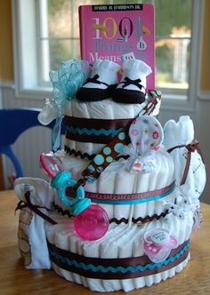 Diaper Cake with gifts