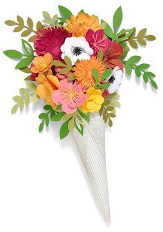 Paper flowers #ctmh #closetomyheart #paperflowers #decor #cricut…