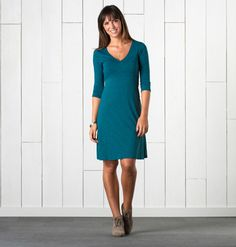 Toad&Co's Rosalinda dress is made with a comfy, complementary shape, a stretchy knit blend of Tencel®, organic cotton, and spandex for movement. Shop women's clothing at Outdoor Gear Exchange. Warm Outfits, New Outfits, Fashion Outfits, Lady Grey, Everyday Dresses, Organic Cotton, Dresses For Work, Clothes For Women, My Style