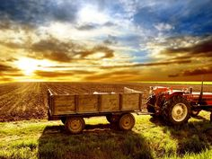 Tractor and Wagon