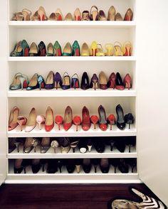 Organization Photo   Shoes On Display On White Shelving