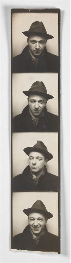 Walker Evans Self-Portrait in Automated Photobooth, c.1930s.