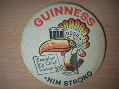 Vintage #Guinness Beer Mat - Toucan