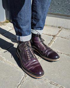 Alden x Leather Soul #8 shell cordovan plain toe boots