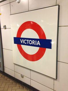 Victoria London Underground Station in London, Greater London London Underground Train, London Underground Stations, Victoria Tattoo, Oyster Card, London Tattoo, London Bus, London Transport, Greater London, Train Station