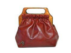 Etienne Aigner Handbag Purse Oxblood Leather by ForeverGinger, $50.00