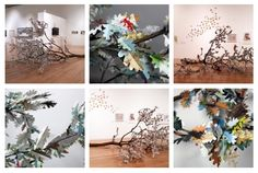 Sequel by Nicola Dale. 2012  Felled oak tree, leaves made from reference books    Men of good will have extracted the substance of a thousand volumes and passed it in its entirety into a single small duodecimo, a bit like skillful chemists who press out the essence of flowers to concentrate it in a phial while throwing the dregs away.  Louis-Sebastien Mercier, L'An 2440    Sequel was commissioned by Manchester Art Gallery.