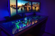 Now THIS is a custom computer desk worthy of a true geek! #technology #custom #computer