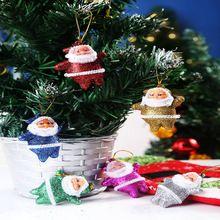 Bling colorido da árvore do ano decoração de árvores de Natal de papai noel decorações(China (Mainland))