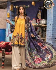Buy Maria B M.Prints Spring/Summer 2019 Adda Staap Collection Embroidered Lawn Unstitched 3 Piece Suit from Sanaulla Store - Original Products. Pakistani Fashion Party Wear, Pakistani Dresses Casual, Pakistani Dress Design, Stylish Dress Designs, Designs For Dresses, Stylish Dresses, Casual Dresses For Women, Maria B, Indian Designer Outfits