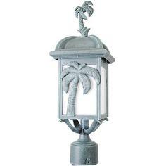 Cast Iron Outdoor Palm Tree Lamp Post Light Floor Lamp