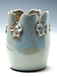 Pale Blue Flower Vase by adventuresinclay on Etsy https://www.etsy.com/listing/154995071/pale-blue-flower-vase