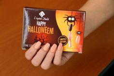 #halloween #nails #halloweennails Halloween Nail Art, Happy Halloween, Crystal Nails, Crystals, Crystal, Crystals Minerals