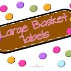 These large basket labels are a part of my chocolate on dots collection. Print, laminate, and cut for easy usage!...