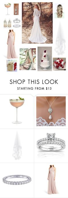 """""""Ideal Pinterest wedding❤️"""" by firothomas ❤ liked on Polyvore featuring Crate and Barrel, Maggie Sottero, Annello, Sarah Seven and Monique Lhuillier"""