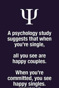 A psychology study suggests that when you're single, all you see are happy couples...