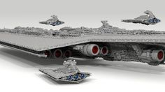 71,000-Piece Super Star Destroyer by Fox Hound   Now, to make the creator cry by reenacting that scene with the A-wing in Return of the Jedi....:)