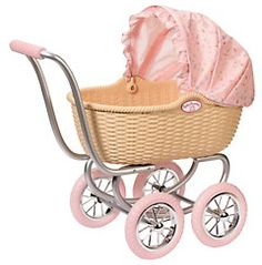 Wicker Doll's Prams - Vintage style wicker dolls prams, made from natural wicker material, in old fashioned designs and styles. The Babys, Muebles American Girl, Baby Girl Clipart, Mermaid Halloween Costumes, American Girl Furniture, Barbie Top, Zapf Creation, Real Baby Dolls, Baby Doll Nursery
