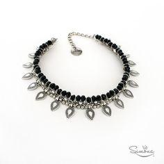 Choker Alfonsina - Cristal de roca negro