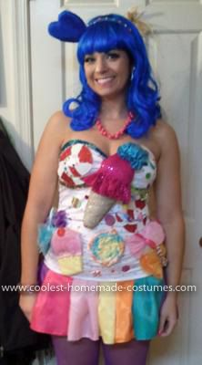 Homemade Katy Perry Costume, lots of homemade costumes on this website!