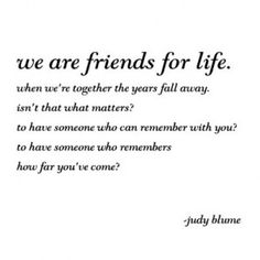Friends for Life- totally me and u