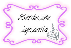 Urodzinowa etykietka do cardmakingu :)