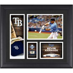 """Kevin Kiermaier Tampa Bay Rays Fanatics Authentic Framed 15"""" x 17"""" Player Collage with a Piece of Game-Used Ball - $79.99"""