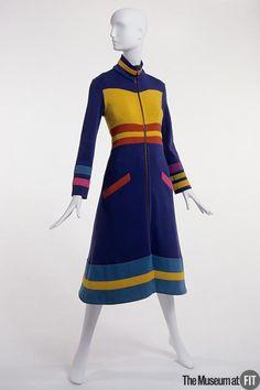 Stephen Burrows -- Fall 1970 __ wool dress __ via Museum at FIT