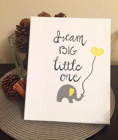 Dream Big Little One Canvas by PrettyLittleCraftInc on Etsy