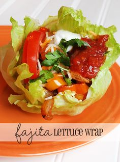 Fajita lettuce wraps. Perfect for getting back on track with weight loss.