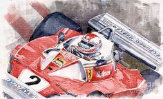 yuriy shevchuk | Ferrari 312 T 1976 Clay Regazzoni Painting by Yuriy Shevchuk - Ferrari ...