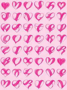 valentine (letterform) hearts feb 2008 by marian bantjes. printed on translucent pink paper and sent in translucent envelopes!**MY MERMAIDS ?**