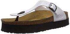 Papillio By Birkenstock Gizeh, Ladies Platform Sandals, White (36.0 R) *** Click image to review more details.