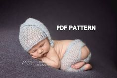 This listing is for a crochet PATTERN for the Newborn Mohair Sleepy Hat & Butt flap pants Set. This is a PDF pattern, not finished product. If you would like to order this set, please visit the listing below. Crochet Baby Pants, Cute Crochet, Newborn Crochet Patterns, Baby Patterns, Baby Pants Pattern, Foto Baby, Crochet Hook Sizes, Newborn Pictures, Single Crochet