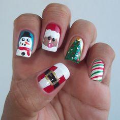 Resultado de imagem para Unhas decoradas Natal