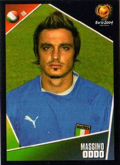 Massimo Oddo of Italy. European Championships, Portugal, Soccer, Football, Italy, Baseball Cards, Trading Cards, Futbol, Futbol