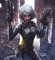 Sci-fi girl with guns: Original anime character... (16 Mar 2018)|Random Anime Arts [rARTs]: Collection of anime pictures