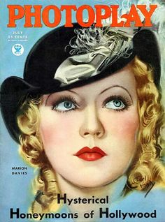 """Marion Davies ~ """"PhotoPlay"""" magazine..."""