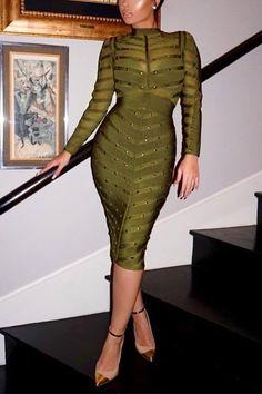 Olive Beauty Fashion Dress