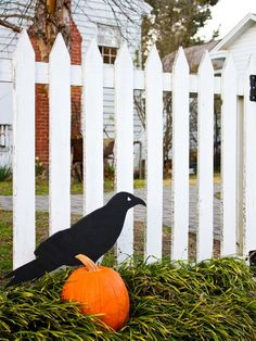 Front yard Halloween Decorations.  #Halloween #craft #frontyard
