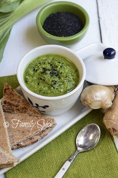 Bok Choy Pesto with Cilantro and Black Sesame Seed