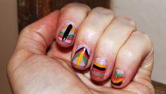Tribal boho nails Bohemian Nails, Boho, Cool Nail Designs, Fun Nails, Bohemian
