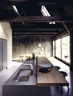 Cucina laccata in legno impiallacciato con isola VELVET PROFILE C Collezione Velvet by GeD cucine by GeD Arredamenti | design Centro Stile GeD