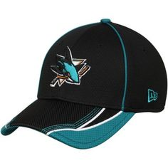 185ac38831b San Jose Sharks New Era Viza Frame 39THIRTY Flex Hat - Black