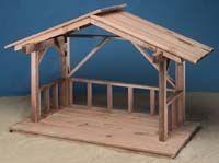 building an outdoor nativity stable | christmas set ideas