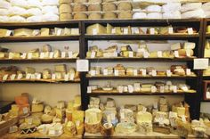 La Fromagerie, Marylebone - BEST cheese shop in all of London with a cute tasting café attached.