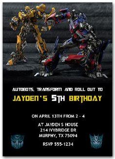 Transformers Invitations  #transformersparty #transformersinvitations