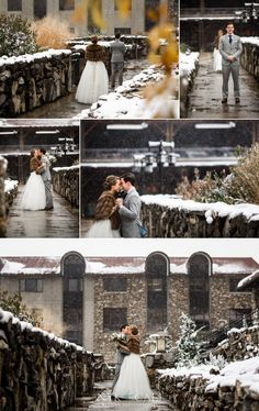 Nyk + Cali Wedding Photographers | Asheville, NC | Grove Park Inn | Bride + Groom | First Look | Winter Wedding | Gorgeous | Romantic | Stunning | Navy + Grey | Blush | Snow |