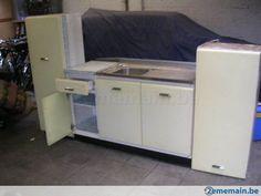 vintage armoire de cuisine en metal evier anne 50 60 a vendre - Modele De Cuisine A Vendre Annee 50